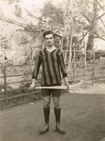 Hurling Player from Kilkenny, Ireland with his Hurley - 1923