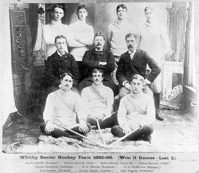 Whitby Senior Ice Hockey Team 1895 -96