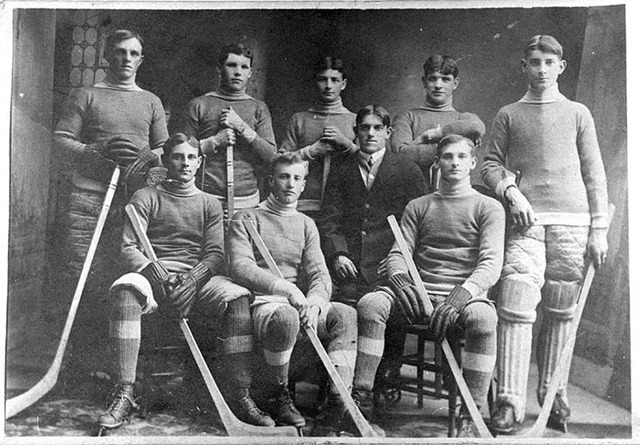 Whitby Intermediate Ice Hockey Team - 1909