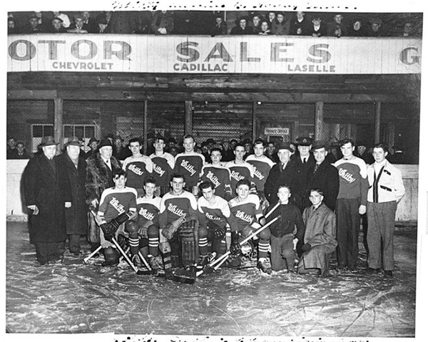 "Whitby All Ontario Juvenile ""B"" Champion Hockey Team - 1945"