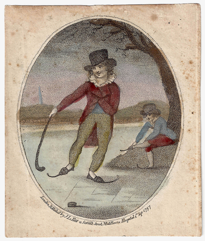 Oldest Known Ice Hockey Image - 1797 - London, England