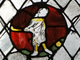 Hockey Player - The Great East Window  Gloucester Cathedral 1340