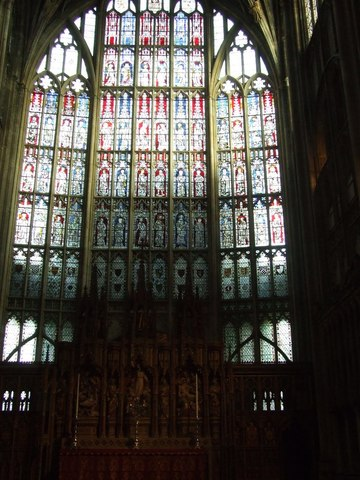 The Great East Window - Gloucester Cathedral - England