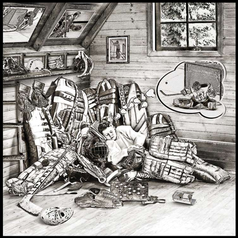 Ice Hockey Goalie Dreams