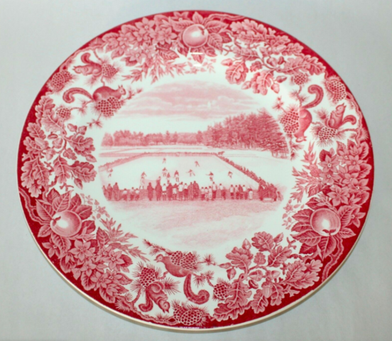 Ice Hockey Plate - St. Paul's School - 1928 - Wedgewood