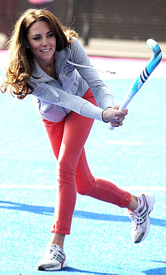 Kate Middleton Takes a Field Hockey Shot at Olympic Park - 2012