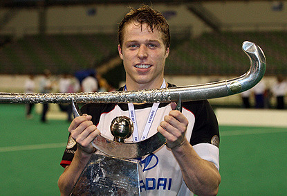 Germany Field Hockey Captain Timo Wess with Champions Trophy