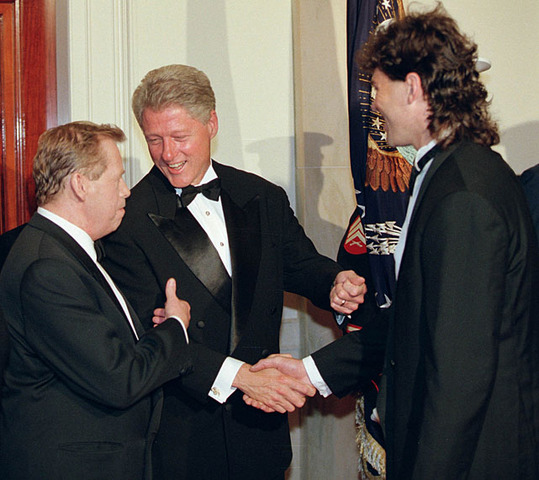 Vaclav Havel - Bill Clinton - Jaromir Jagr - White House - 1998