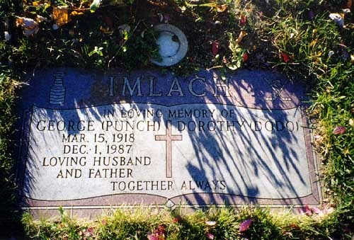 "George ""Punch"" Imlach Grave Stone in Mount Pleasant Cemetery"