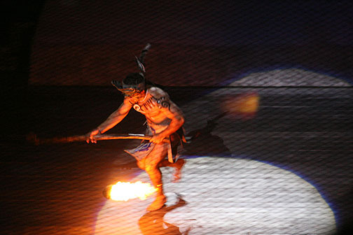 Fire Ball Hockey at Xcaret Resort in Mexico