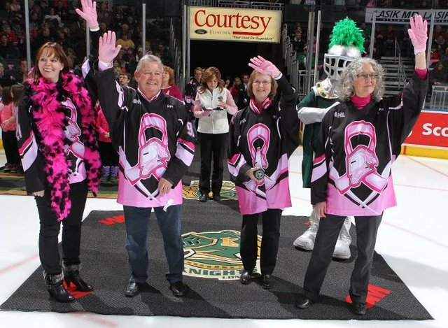 House of Pink at London Knights Ice Hockey Game