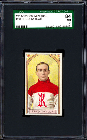Fred Taylor - C55 - Imperial Tobacco Hockey Card - 1911