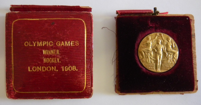 Olympic Field Hockey Champion - 1908 - Gold Medal - Gerald Logan