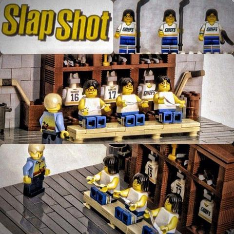 Lego Slap Shot Hanson Brothers in Dressing Room