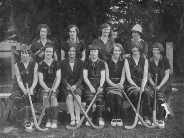 Akaroa Ladies Field Hockey Team - 1912