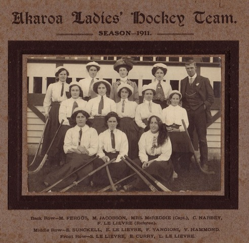 Akaroa Ladies Field Hockey Team - 1911