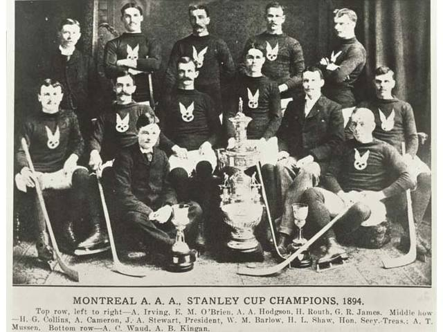Montreal Hockey Club - Montreal AAA - Stanley Cup Champions 1894