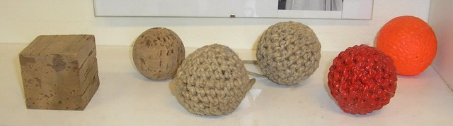 The stages in making a cork bandy ball
