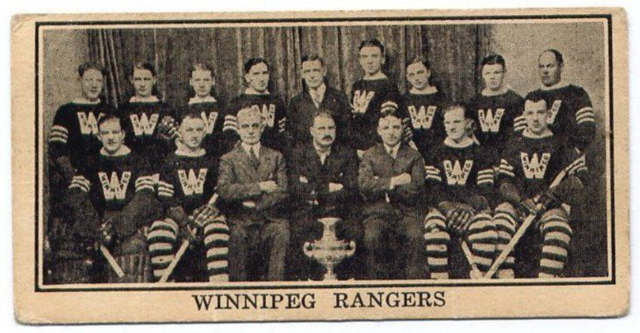 Winnipeg Rangers Hockey Card 1929