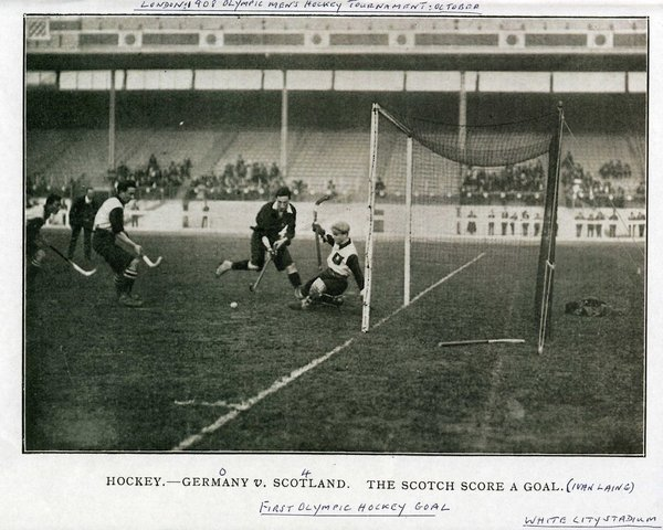 1st Olympic Field Hockey Goal - Scotland Scores Against Germany