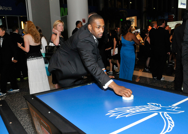 Gilbert Arenas - Playing Some Air Hockey - 2011