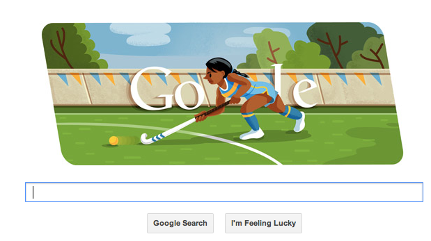 Google Search Bar - Olympic Field Hockey - 2012