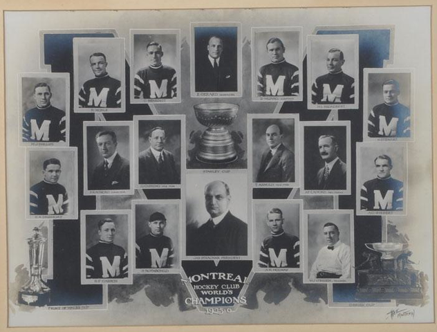Montreal Maroons - Stanley Cup Champions - 1926