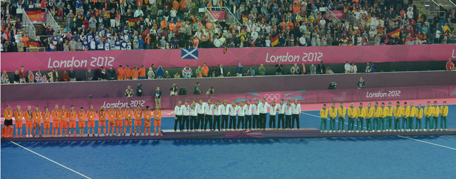 Medal Ceremony - Olympic Mens Field Hockey - London - 2012