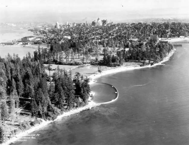 Denman Arena - Vancouver - Second Beach - Aerial Photo - 1930s