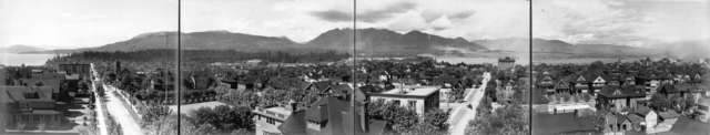 Panoramic View - Vancouver West End - Denman Arena - 1911