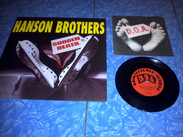 Hanson Brothers LP & D.O.A. 45 Record with Cover
