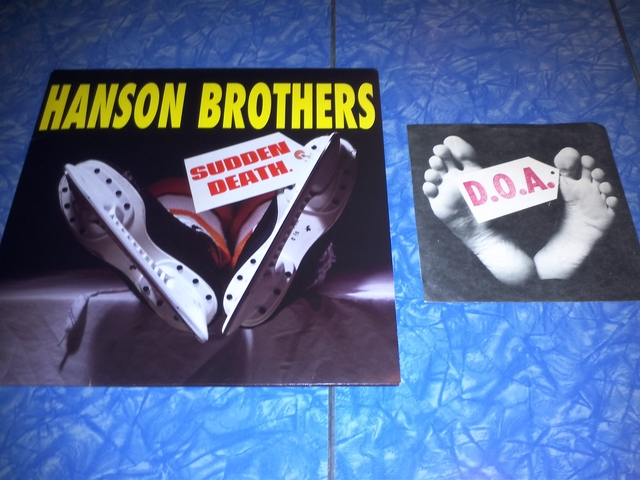 Hanson Brothers LP & D.O.A. 45 Record Covers