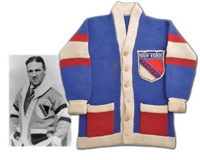 Leo Bourgault and his 1928 New York Rangers Sweater