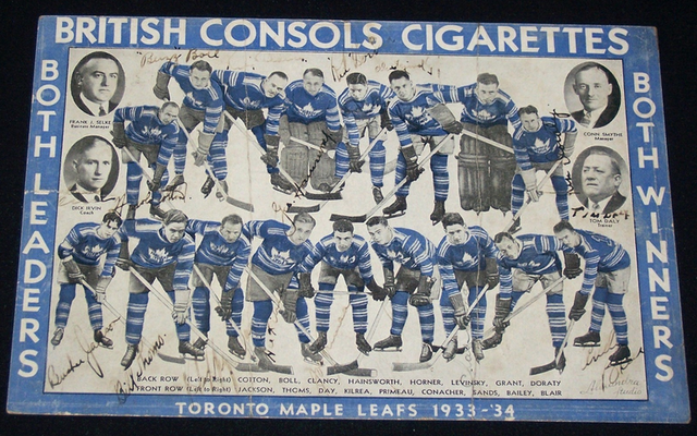 Toronto Maple Leafs - 1933 / 34 - British Consols Cigarettes