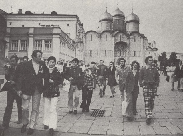 Team Canada Members Walking Around in Moscow - September, 1972