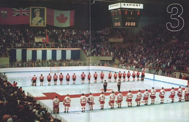 Summit Series - Game 3 - Winnipeg - Standing For National Anthem