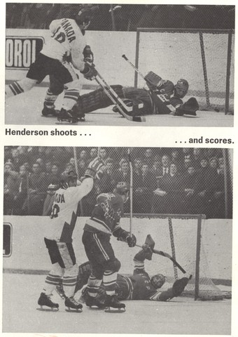 Paul henderson scores the summit series winning goal