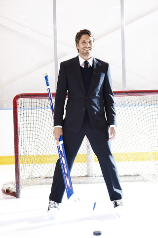 Henrik Lundqvist - Playing Goalie in a Suit