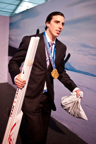 Marc-Andre Fleury - Olympic Gold Medal Hanging Around 2 Pce Suit