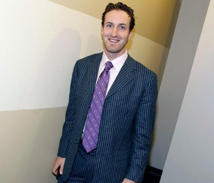 Brooks Orpik - Blue Pin Striped Suit - 2010