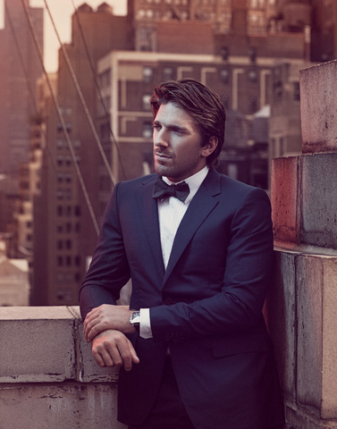 Henrik Lundqvist - Navy Blue Tuxedo & Bow Tie - Sharp Dressed