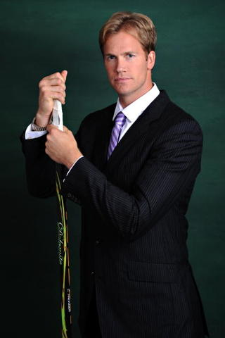 Chris Pronger - Hockey Fights Cancer - Black Pin Striped Suit