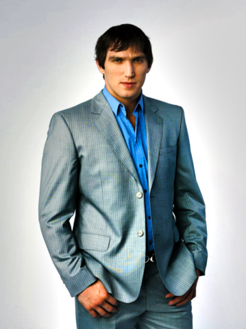 Alexander Ovechkin - Grey Pin Striped Suit - 2010