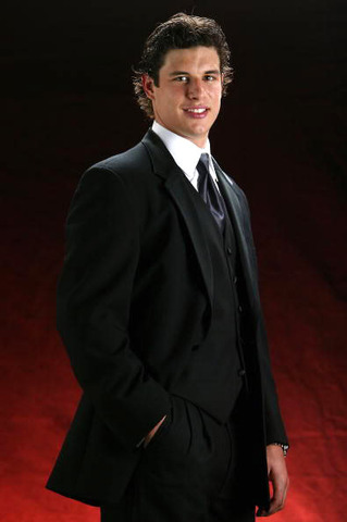 Sidney Crosby - 3 Piece Black Suit - Sharp Dressed - 2011