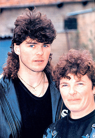 Jaromir Jagr with his Mother Anna - Jagr Mullet