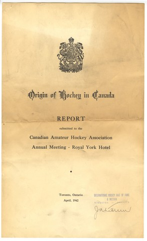 Origin of Hockey in Canada - Page 1 - Report - 1942