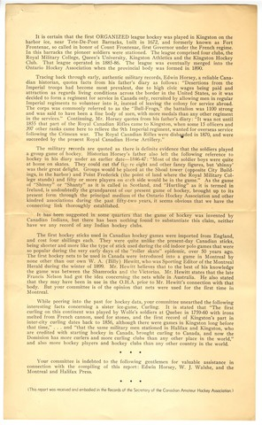 Origin of Hockey in Canada - Page 3 - Report - 1942