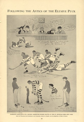 Ice Hockey Cartoon - 1914 - The Spur - USA