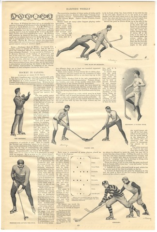 Hockey in Canada - Harpers Weekly - 1895