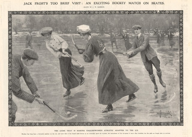 Jack Frost's Too Brief Visit: An Exciting Hockey Match on Skates